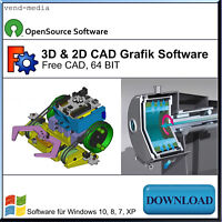 CAD Software, 3D & 2D Modelle erstellen, geometrische Modelle & Grafik, Download