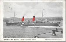 Ship - paddle steamer Prince of Wales, Douglas Isle of Man - local pmk 1904