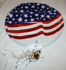 Patriotic July 4th Stars & Stripes Foil Mylar Balloons w/Attached Ribbon -10ct
