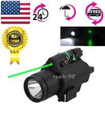 US Green Laser Sight+CREE Q5 Flashlight 20mm Picatinny Rail For Rifle Pistol Gun