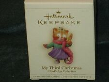 Hallmark 2006 My Third Christmas - Child's Age - Girl/Cat- NEW  (BIN #1)
