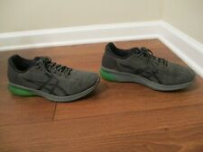 Used Worn Size 10.5 Asics Gel Kenun Shoes Gray Anthracite Green