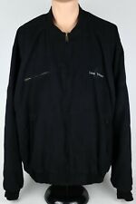 Tri-Mountain Las Vegas Mens 3XLT Black Faux Suede Casual Bomber Jacket