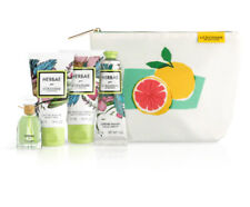 L'Occitane Herbae Gift Set Pouch Bag Eau de Parfume Beauty Milk Cream Travel Kit