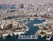 Greece - PIRAEUS - Travel Souvenir Flexible Fridge Magnet