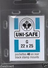 Uni-Safe Scott Prinz Split-Back G22x25 mm-40 Black Precut StampMounts GermanMade