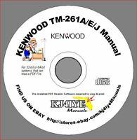 KENWOOD TM-261AEJ + TM-461A CD OWNER'S MANUAL VHF UHF Ham Radio KJ4IYE CD ONLY