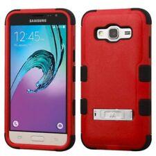 Étuis, housses et coques rouge Samsung Galaxy J en silicone, caoutchouc, gel pour téléphone mobile et assistant personnel (PDA)