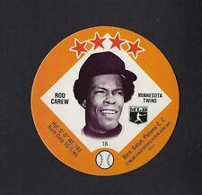 1978 MSA Big T / Tastee Freez Discs ROD CAREW Minnesota Twins MINT
