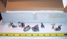 Harbor Lights Retired #606 Keepers & Friends Accessories Mib Set of 9 Miniature