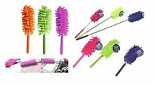 LONG HANDLE TELESCOPIC EXTENDABLE MICROFIBRE MAGIC CLEANING FEATHER DUSTER BRUSH