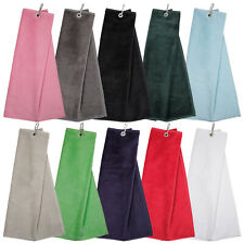 2020 Masters Tri-Fold Deluxe Velour Golf Towel 100% Cotton Carabiner Bag Clip