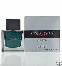 Encre Noire SPORT Pour Homme by Lalique for Men  EDT 3.3 oz 100 ml spray