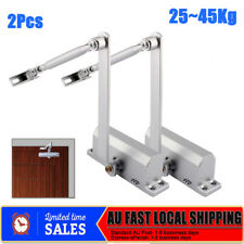 2Pcs 25 45Kg Heavy Duty Adjustable Fire Rated Hold Open Silver Door Closer Suits