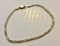 Pretty Ladies Hallmarked 9 Carat Gold Figaro Bracelet 9CT