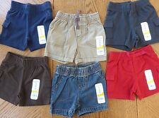 NEW boys 6 month Shorts 6 pair LOT $72 msrp Great Mix of Solid Colors Summer NWT