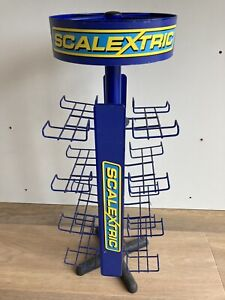 Genuine Scalextric Metal Framed Spinning Car Display Stand Marketing RARE!