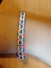 Rainbow cord braccialetto con numero di telefono perso bambino / adulto vulnerabili-con cartellino
