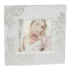 "Vintage Style GLITTER PETAL Mirror Glass Square PHOTO FRAME 3"" X 3"""