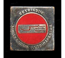 Vintage USSR Soviet Estonia Excellent Public Traffic Inspector Pin Badge