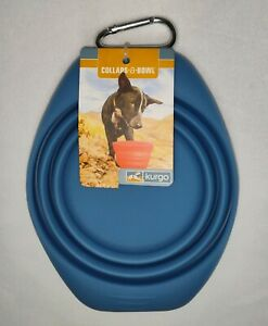 Kurgo Collaps-A-Bowl Travel Pet Food and Water Bowl Blue 24oz
