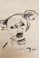 JOSE TRUJILLO Original Charcoal Paper Sketch Drawing 11X17 Dog Puppy MINIMALISM
