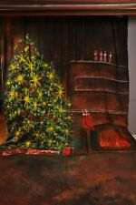 Scenic Christmas muslin photography Background 10x20ft