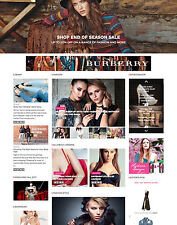FASHION Designer CLOTHING SHOPPING Affiliate website for sale Mobile friendly