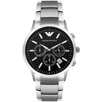 Emporio Armani AR2434 Classic Chronograph Black Dial Steel Men's Watch