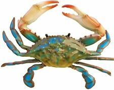 """Wide Blue Crab Wall Decor Awesome Realistic Looking Acrylic Resin 9"""""""