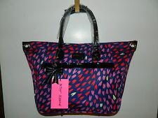 NWT Betsey Johnson Hearts Love Handbag XLarge Purse Laptop Weekender Diaper