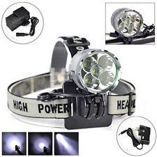 8000 Lumens 5x CREE XM-L T6 LED 3 Mode Headlight Headlamp Bike Bicycle light NEW