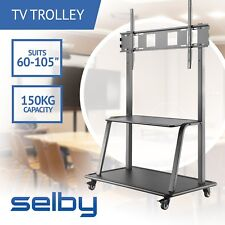 "60-105"" Inch Mobile LED LCD TV Stand Ultra Heavy Duty with Shelf"