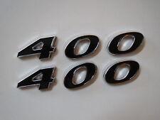 CHEVROLET 400 ENGINE ID FENDER HOOD SCOOP QUARTER PANEL TRUNK EMBLEMS - BLACK