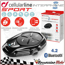 INTERFONO MOTO CELLULAR LINE INTERPHONE SPORT BLUETOOTH 4.2 RADIO FM MP3 A2DP