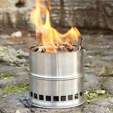 Outdoor Portable Wood Stove Backpacking Survival Burning Camping Cooking Stove