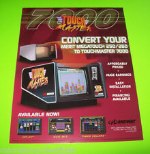 TOUCH MASTER 7000 By MIDWAY ORIGINAL NOS VIDEO ARCADE GAME SALES FLYER #2