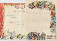 1953/1959 2x greeting telegrams with ROMFORD & HEMSBY GREAT YARMOUTH cancels