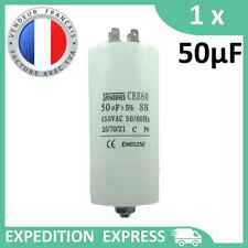 Condensateur moteur 50µF 50uF 450V à cosses + vis CBB60 démarrage/permanent