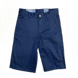 Nautica boy's school uniform navy short NEW size 12 slim adjustable waist flat f
