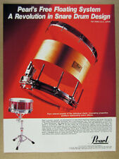 1984 Pearl Free Floating System Snare Drum vintage print Ad