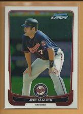 Joe Mauer 2012 Bowman Chrome Card # 170 Minnesota Twins Baseball