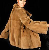 NEU 42-44 Nerzjacke velvet mink shorn jacket Nerz geschoren Samtnerz sheared new