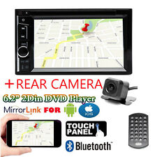 2Din 6.2Inch Touch Car Stereo DVD MP3 Player FM Radio Mirror For GPS Navi Camera