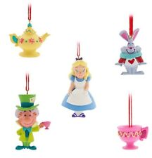 Disney Alice in Wonderland Set 5 Christmas Decoration Ornament Tree Hanging