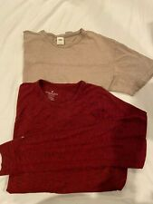 Two Large Men's Shirts, Old Navy Short Sleeve, American Eagle Long Sleeve
