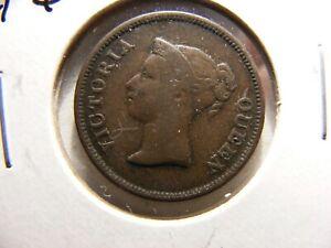 Straights Settlements 1845, 1/4 Cent, KM#1, Fine
