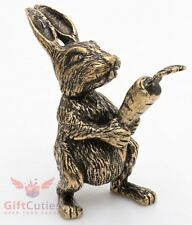 Bronze Figurine of Rabbit or Hare with a carrot