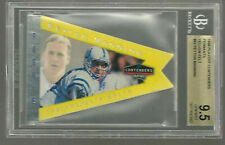New listing Peyton Manning 1998 Playoff Contenders Pennant BGS 9.5 Yellow Die-Cut ROOKIE 10