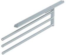 Telescopic Kitchen Tea Towel Rail - Silver Anodised Aluminium - 3 Rail